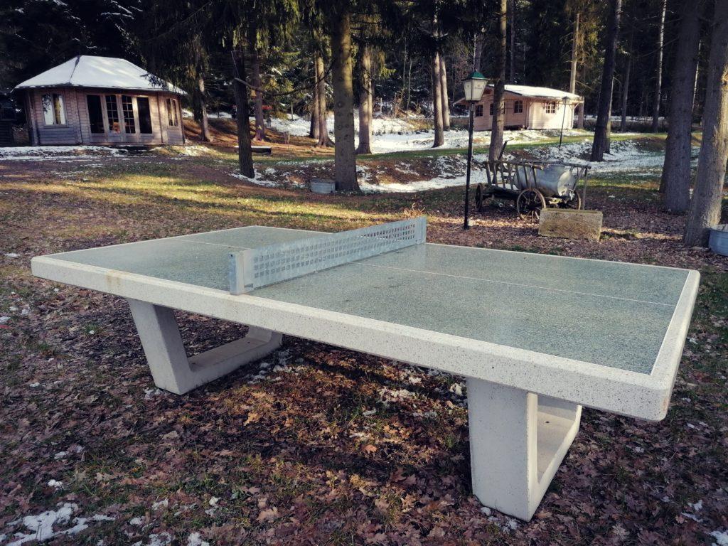 Tischtennisplatte im Scheunendorf
